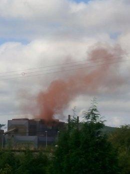 Nube de contaminación en Arcelor