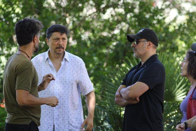 Cormenzana, Carlos Bardem y Roberto Álamo en  'Alegría, tristeza, miedo, rabia'