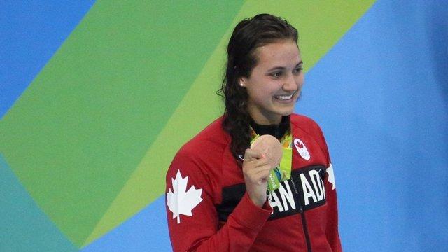 La nadadora canadiense Kylie Masse