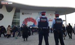 El Mobile Wold Congres 2018 espera atreure més de 108.000 assistents i 2.300 expositors (MOSSOS D'ESQUADRA)