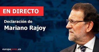"""Declaración de Rajoy   Directo:   Rajoy asegura que """"jamás"""" se ha ocupado de cuestiones de contabilidad"""