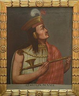 Cuadro del emperador Atahualpa en el Museo