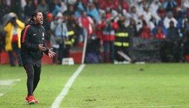 """Simeone: """"Este equipo compite muy bien sea amistoso o competición oficial"""""""