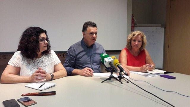 Juan Antonio Delgado, de Podemos, en rueda de prensa