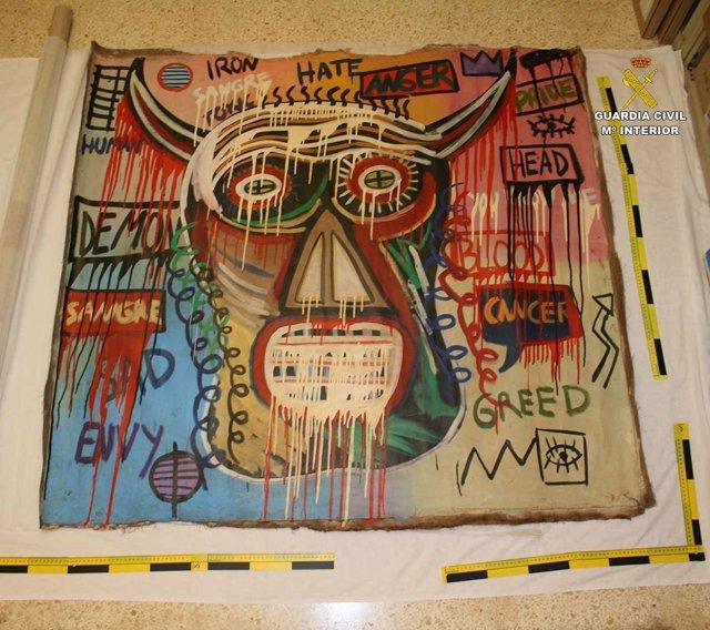 Recuperan en Pollença un cuadro de Basquiat