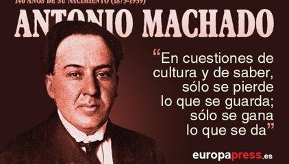 142º Aniversario de Antonio Machado: 20 versos para recordar al poeta español
