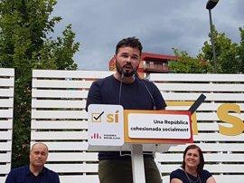 """ERC pide la dimisión de Rajoy tras """"hacerse la infanta"""" en el juicio de 'Gürtel'"""
