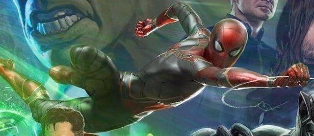 Spider-Man en el poster de Vengadores: Infinity War