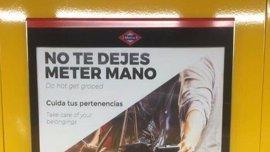 """Comunidad no cree que la campaña de Metro 'No te dejes meter mano' sea sexista """"porque aparecen una señora y un señor"""""""