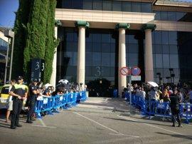 Más de un centenar de periodistas esperan la llegada de Cristiano Ronaldo al juzgado de Pozuelo
