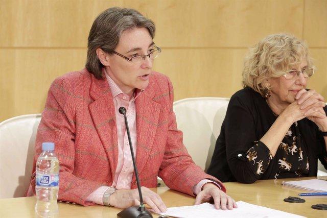 Marta Higueras y Manuela Carmena