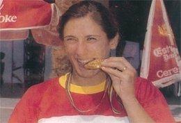Almudena Muñoz, ganadora del oro en Barcelona'92