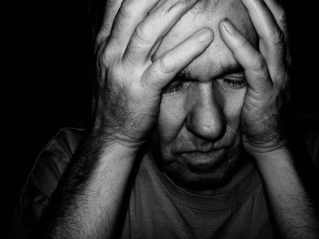 Ansiedad, depresión, hombre