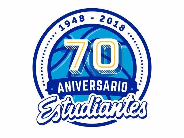 Logo del Estudiantes por su 70 aniversario