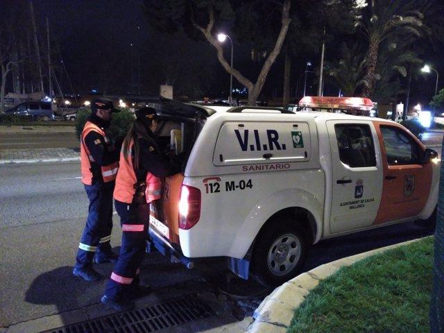 Vehículo sanitario de Calvià, ambulancia