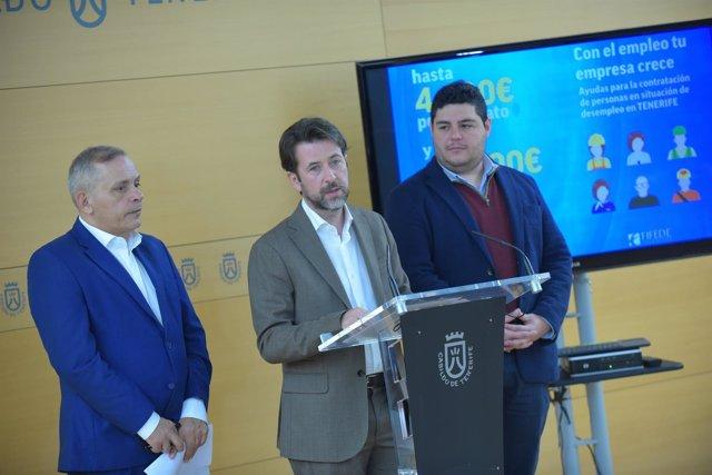 Efraín Medina, Carlos Alonso y Leo Benjumea