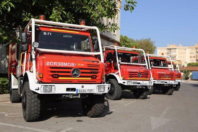 Vehículos antiincendios cpb autobomba consorcio bomberos diputación