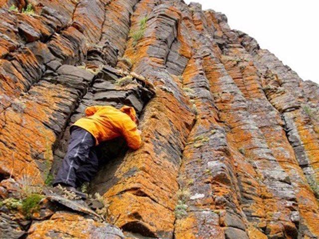Formación rocosa en Siberian Trap