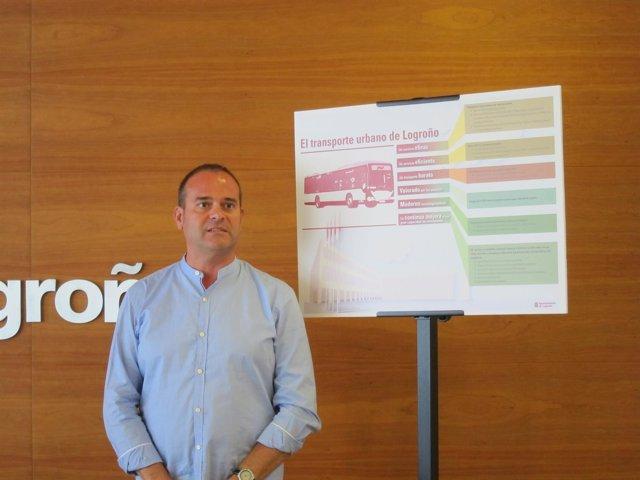 Iglesias expone los resultados del estudio del transporte público logroñés
