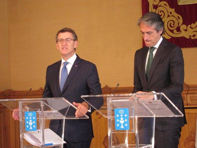 Feijóo y De la Serna, en Santiago