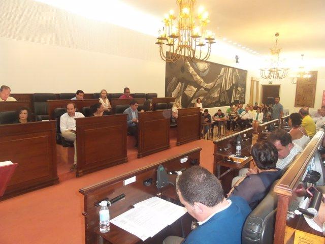 Pleno extraordinario de la Diputación de Huelva julio 2017.