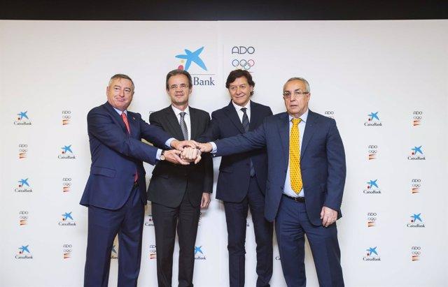 A.Sánchez (RTVE), J.Gual (CaixaBank), J.R.Lete (CSD) y A.Blanco (COE)