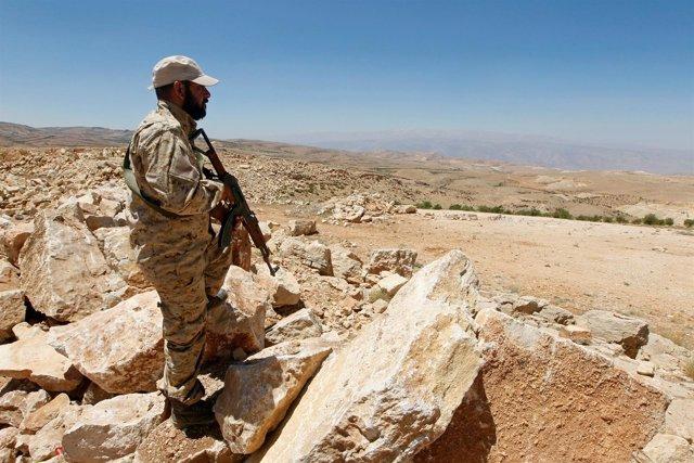 Combatiente de Hezbolá en Jroud Arsal