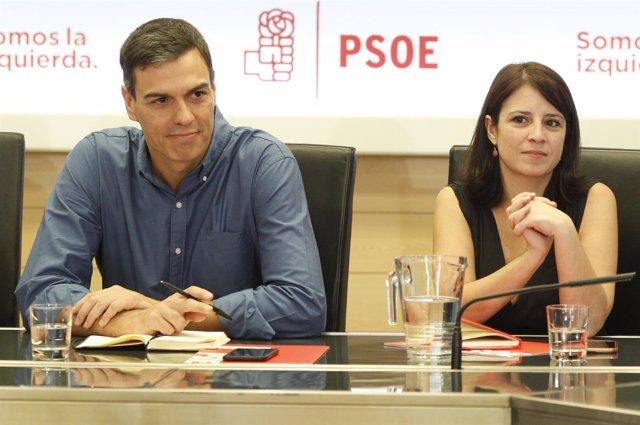 Sánchez y Lastra en la reunión de la Comisión Permanente de la Ejecutiva Federal