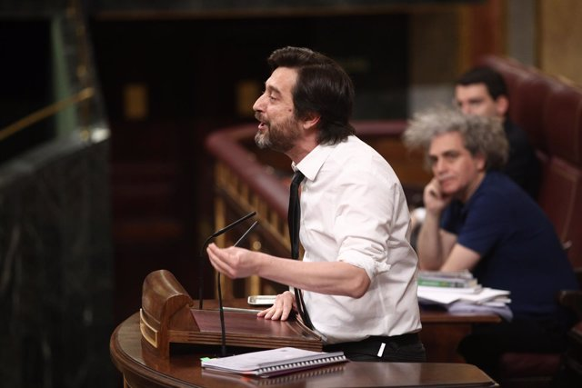 Rafael Mayoral en el pleno en el Congreso