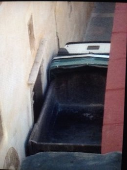 Camión en el Casco Antiguo de Palma