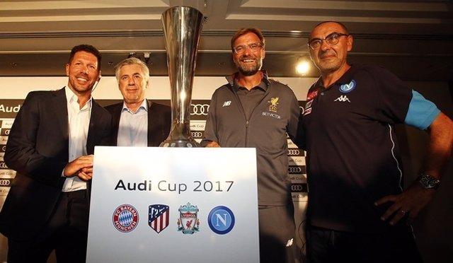 Simeone, Ancelotti, Klopp u Sarri presentan la Copa Audi