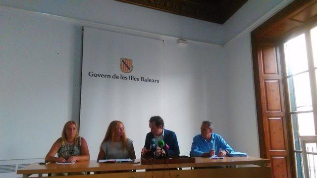 Eva Serra, Corinna Graf, Marc Pons y Xavier Ramis