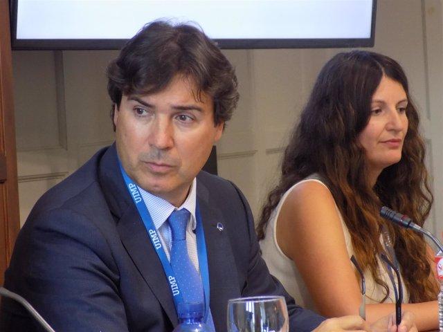 Jaime González, presidente de la APS, en la UIMP