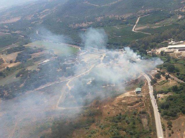 El incendio en Castellar