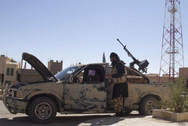 Miliciano en Homs