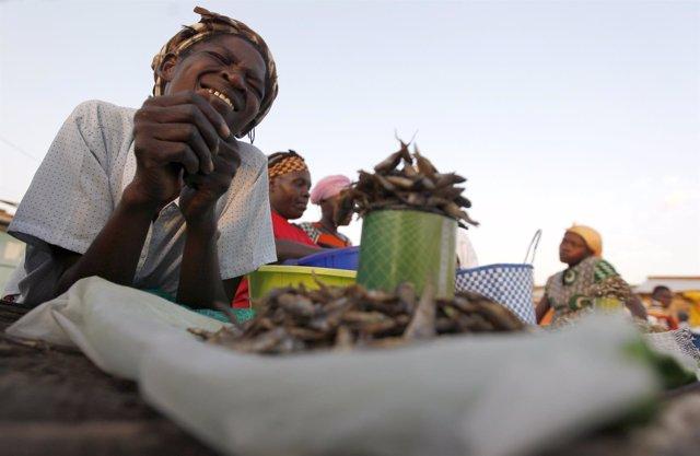Una mujer de Tanzania
