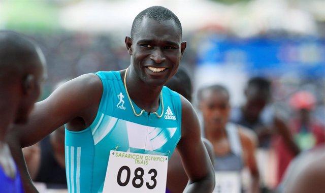 El campeón olímpico y mundial de los 800 metros David Rudisha