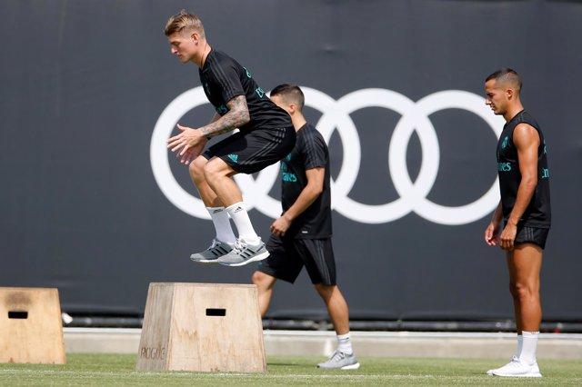 Kroos, principal novedad en el regreso al trabajo del Real Madrid en Florida