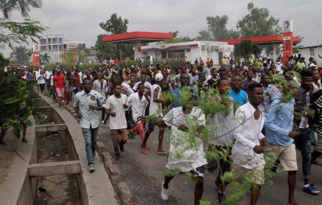Manifestación contra Kabila