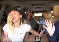 No te vas a querer perder el Carpool Karaoke de la familia Cyrus