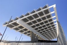 Barcelona ja disposa de 12 pèrgoles fotovoltaiques per generar energia pública (EUROPA PRESS)