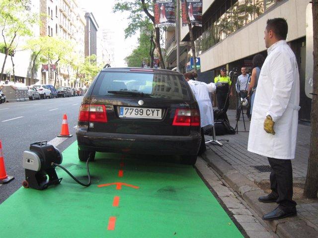 Control de emisiones de partículas a vehículos diésel en Barcelona