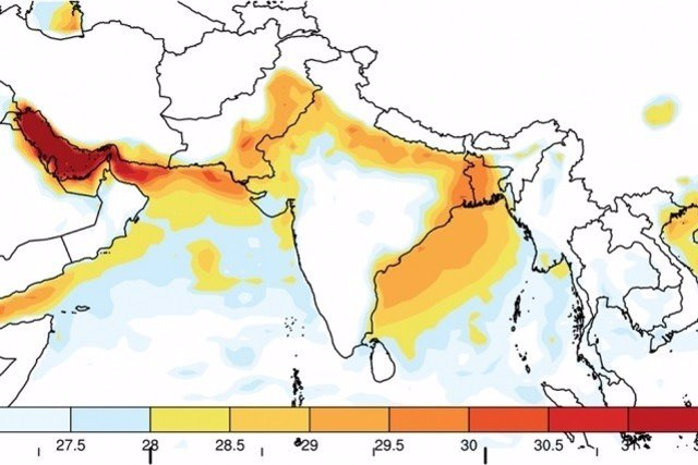 Subida de temperaturas en el sur de Asia