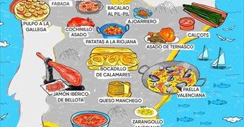 España, Portugal, Francia, Italia, Alemania y Reino Unido: descubre cada rincón a través de sus platos más típicos