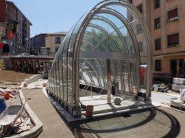 El cañón de acceso y ascensor de la Plaza de las Escuelas a la L-3 de Metro Bilbao entran en servicio el próximo lunes
