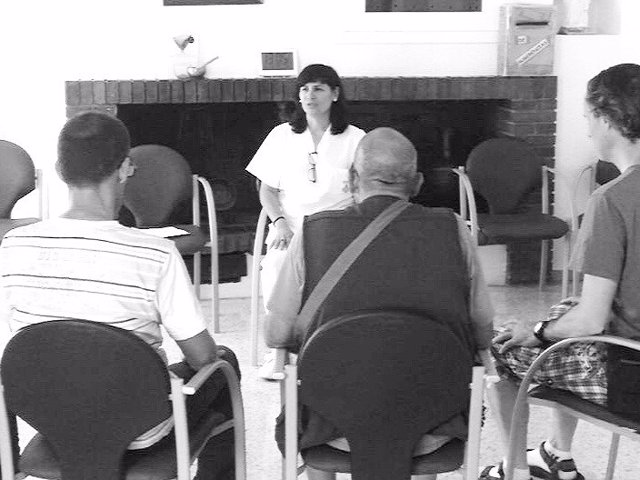 Grace Cañizares impartiendo técnicas 'mindulness'