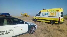 Cinco heridos en Escatrón tras volcar un coche, cuyo conductor da positivo en alcohol y droga