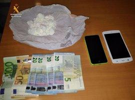 Guardia Civil de Albacete detiene a un vecino de Badajoz con 102,5 gramos de cocaína