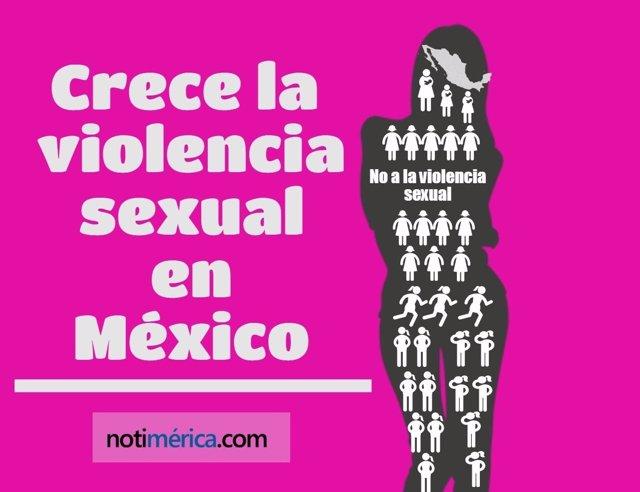 Crece la violencia sexual en México