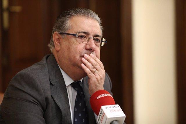 Entrevista de Europa Press al ministro del Interior, Juan Ignacio Zoido